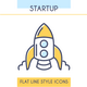 Startup Outline Icons Set