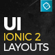 Ionic 2 UI Theme/Template App - Material Design - Yellow Dark