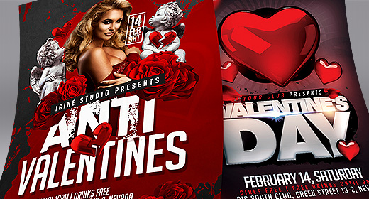 Valentine's Day Flyer Templates