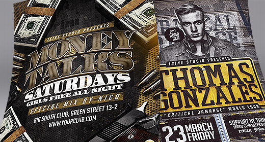 Rap flyer templates
