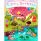 Happy Birthday Card with Animals in the Countryside