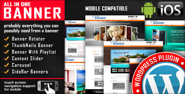 Banner Rotator / Content Slider WordPress Plugin - CodeCanyon Item for Sale