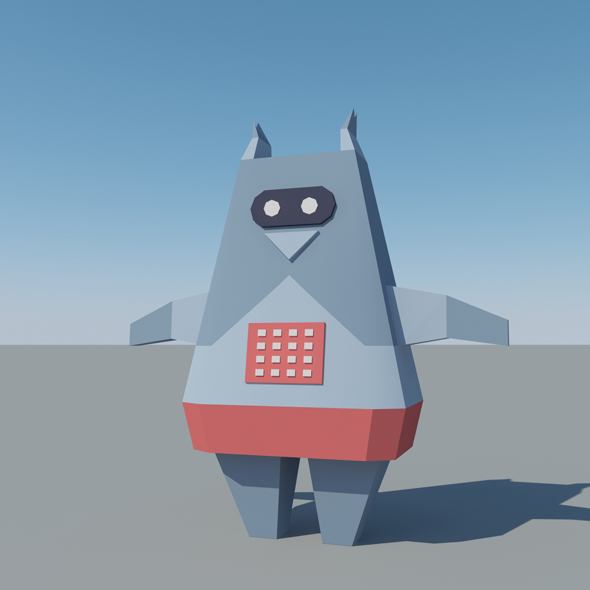 Low Poly Space Robot - 3DOcean Item for Sale