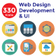 330 Flat Circle Shadow Web Design Developemnt & UI Icons