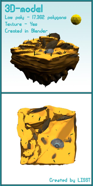 3DOcean Low Poly landscape Desert 19377758