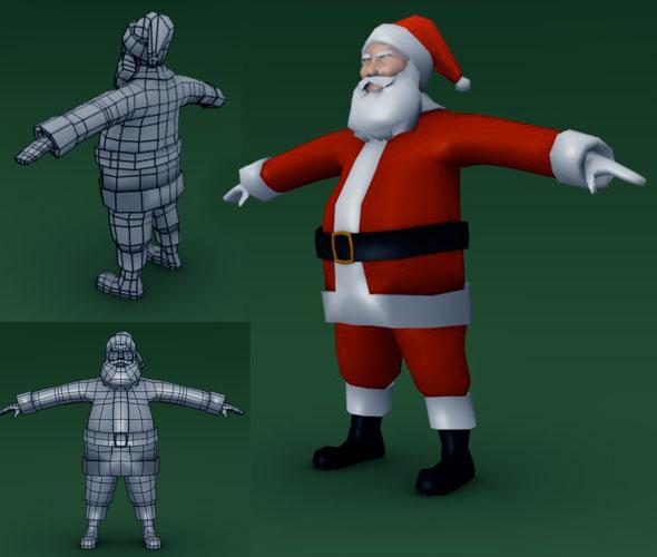 Low Poly Santa