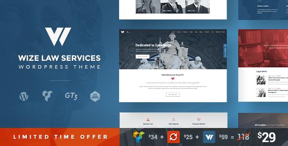 Download Law Services | Lawyer & Attorney Business WordPress - WizeLaw
