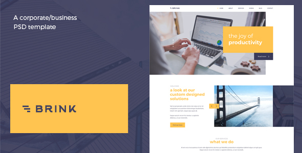 Brink - Creative Business PSD Template