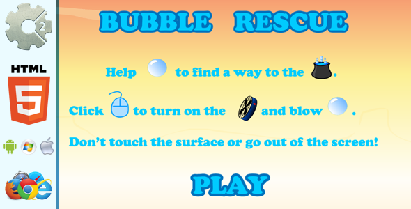 Bubble Rescue with 7 Levels - HTML5 Game (CAPX included)