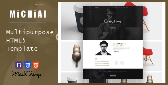 Micheal – Onepage and Multipurpose HTML Template (Inventive)