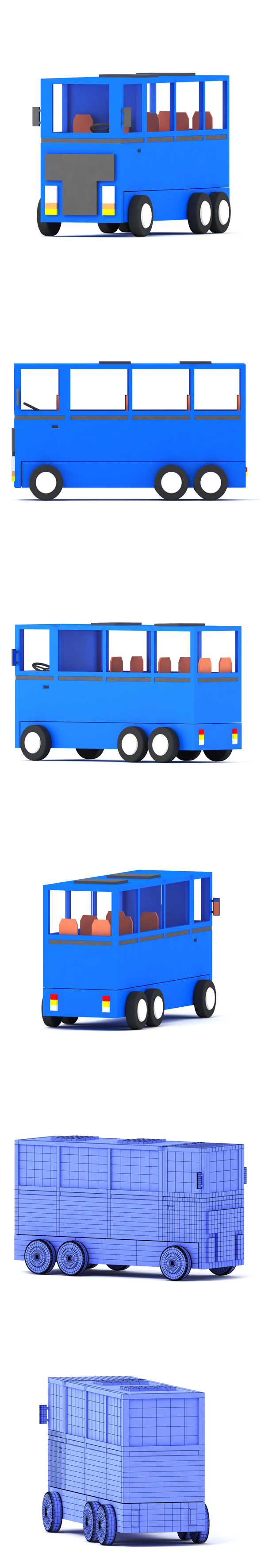 Bus toy - 3DOcean Item for Sale