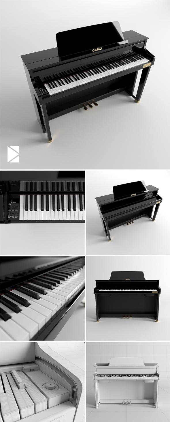 Piano Casio Celviano Grand Hybrid GP-500 - 3DOcean Item for Sale