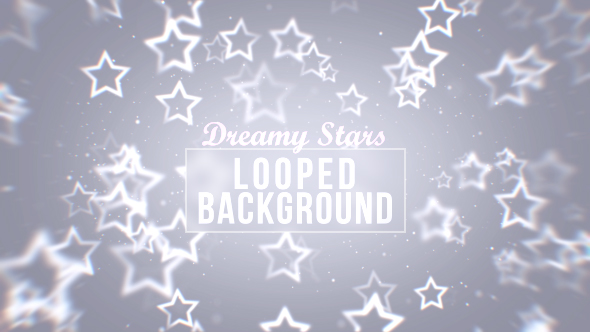 Dreamy White Stars Background by graysolid | VideoHive