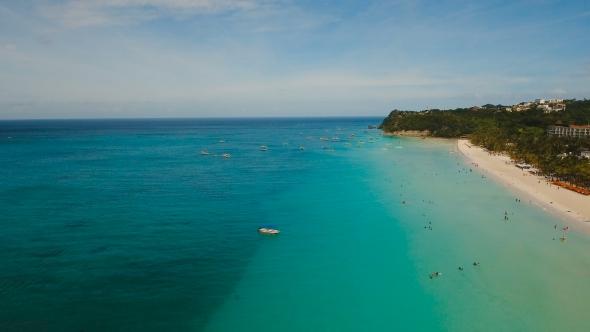 VideoHive Aerial View Beautiful Beach on Tropical Island Boracay Island Philippines 19380057