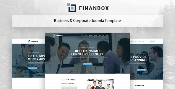Finanbox - Responsive Multipurpose Business & Corporate Business Joomla Template