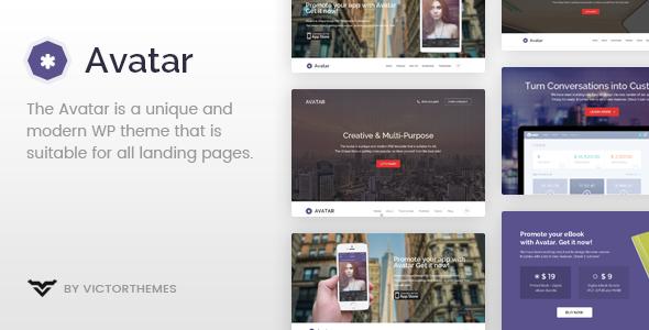 Фото Wordpress премиум тема  Avatar - One & Multi Page Parallax WordPress Theme — Preview.  large preview