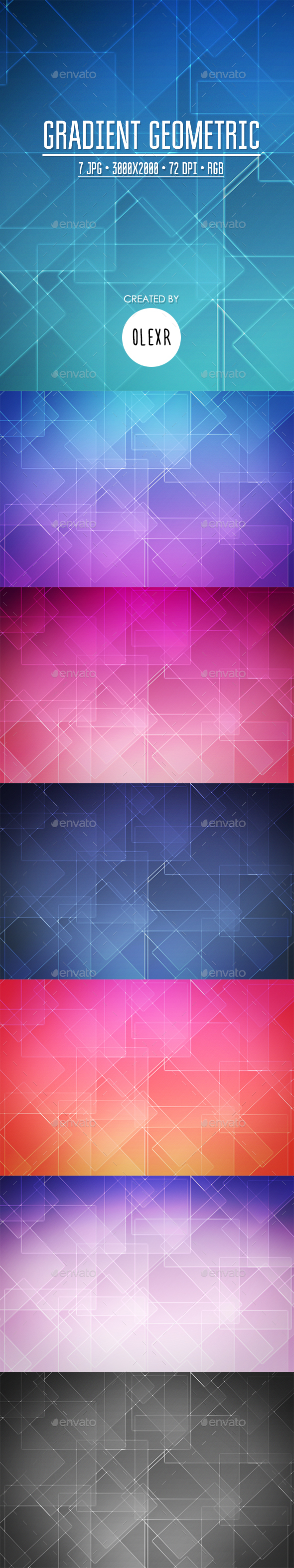 Gradient Geometric Backgrounds