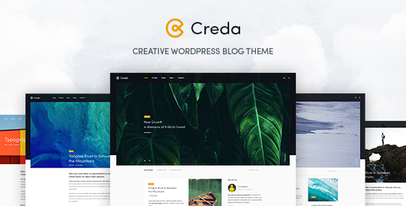 Download Creda - Creative WordPress Blog Theme