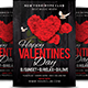 Valentine's Day Invitation Flyer & Post card