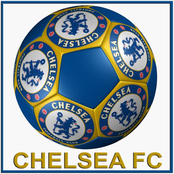 SOCCER BALL CHELSEA FC - 3DOcean Item for Sale