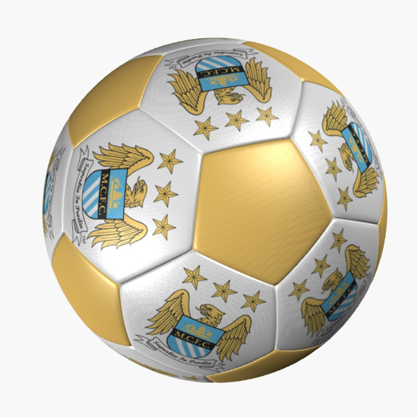 SOCCER BALL MANCHESTER CITY - 3DOcean Item for Sale