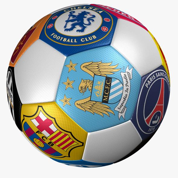Soccer Ball Club Logo - 3DOcean Item for Sale