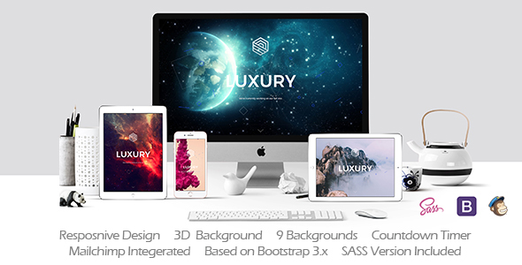 LUXURY // Responsive Coming Soon Template