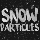 5 Transparent Snow Particle Falling Down
