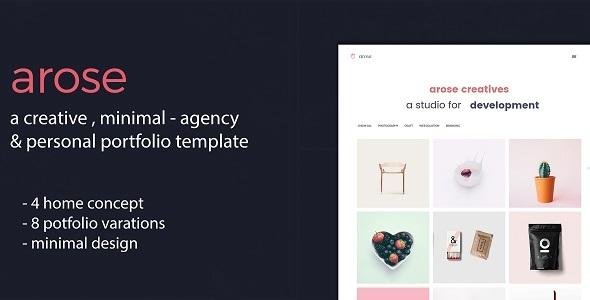 Arose - Creative Minimal Portfolio Template