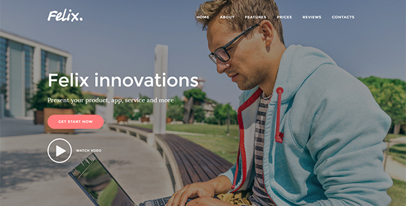 Felix. - App | Service | Product Landing Page Joomla Templat ...