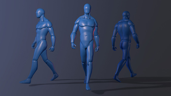 3DOcean Human Male Figure Rigged 19385182