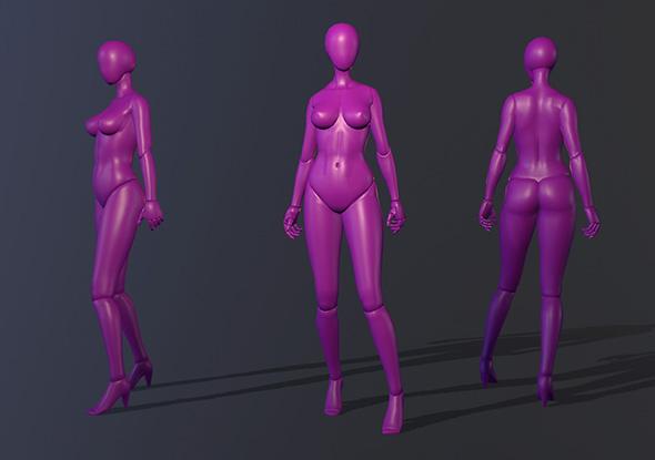 Human Female Figure - 3DOcean Item for Sale