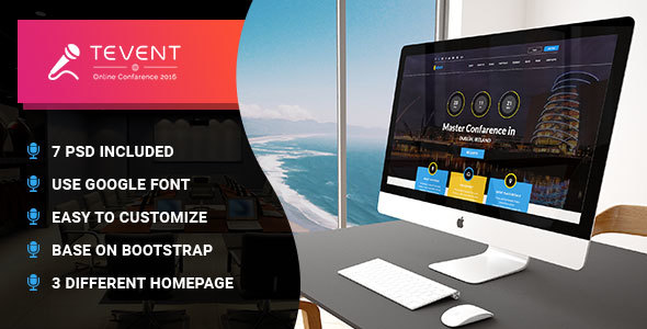 T Event - Event Conference & Meetup PSD Template