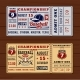 Vintage Tickets To the Championship Baseball