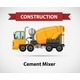 Constructin Icon with Cement Mixer