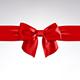 Red Bow of Satin Ribbon