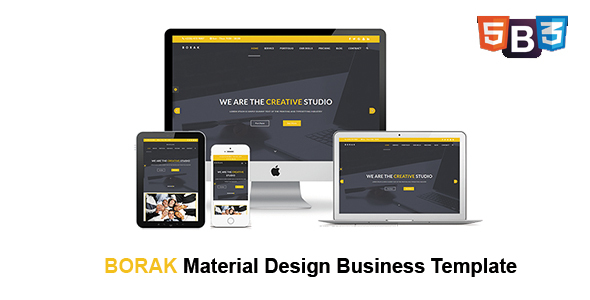 BORAK  Material Design Business Template