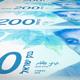 Banknotes of Two Hundred Israeli Shekel