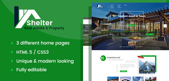 Shelter - Real Estate & Property HTML Template