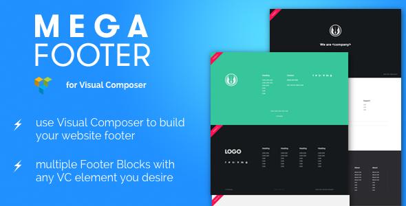 Mega Footer for Visual Composer