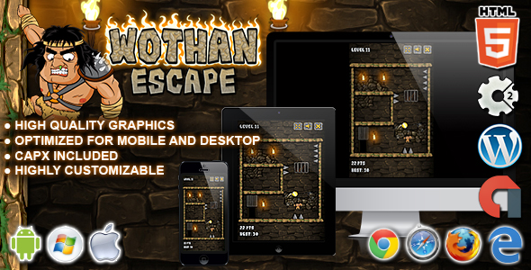 Wothan Escape - HTML5 Construct 2 Skill Game