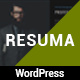 Resuma  - Resume Protfolio Responsive WordPress Theme