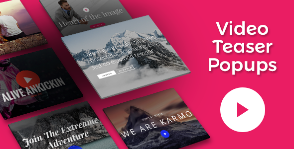 Video Teasers Addons for Visual Composer WordPress Plugin (Add-ons)