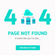 404 Error Webpages - Flat UI Design - 6 items - PSD