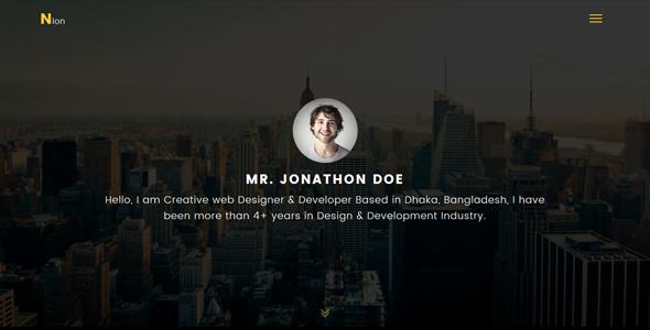 Nion - Super Professional Personal Portfolio Template