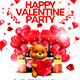 Happy Valentine Party Flyer Template 2