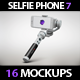 Phone 7 with a Selfie Stick Mock Up