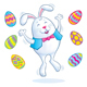 Easter Bunny Jumping for Joy