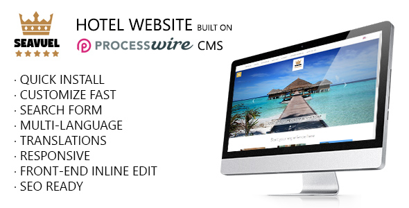 SeaVuel | Multilingual - Hotel website with CMS | Bootstrap theme