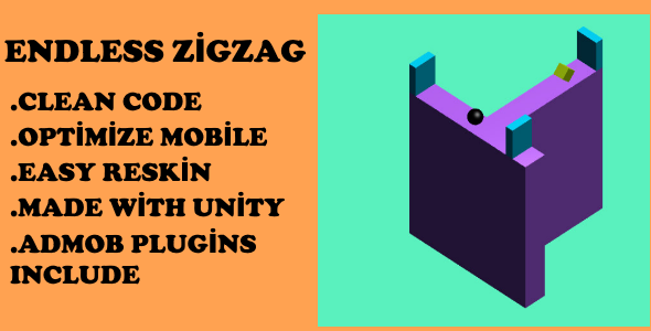 Endless Zigzag Unity Source Files - CodeCanyon Item for Sale